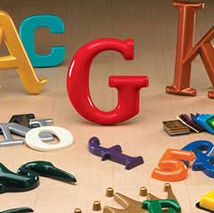 formed-plastic-letters